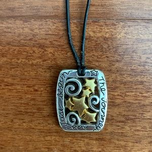 """Brighton """"The Journey Has Just Begun"""" Necklace"""